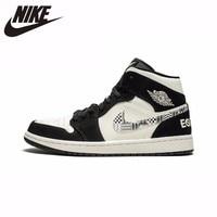 Nike Air Jordan 1 Original New Arrival Men Basketball Shoes Leather Sports Outdoor Sneaker #852542