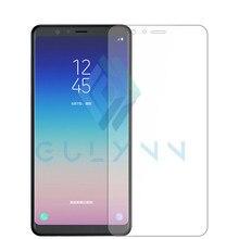 Gulymm 9h Tempered Glass For Samsung Galaxy A7 A5 2018 J4 j6 A8 A6 Plus J3 J7 PRIME J8 Screen Protector Film