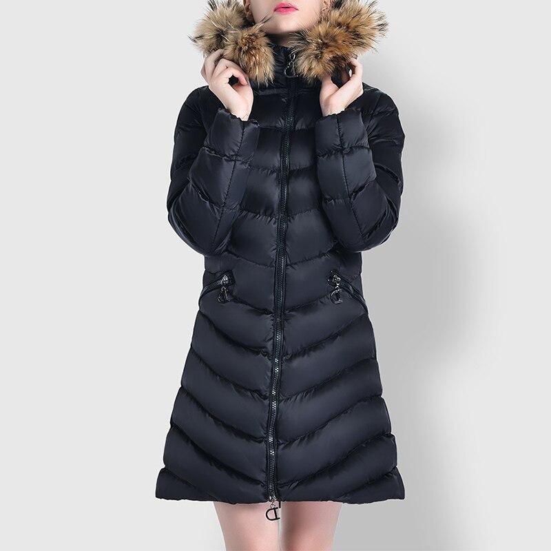 Wipalo 2018 New Fashion Women Jacket Hood Faux Fur Collar Parka Winter Long Thicken Outwear Coat Plus Size Ladies Warm Overcoat