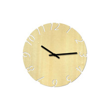 d963b5482 1 قطعة خشبية ساعة حائط جوفاء الزخرفية الصامتة ريفي جولة ساعة ساعة حائط  للمدرسة مكتب المنزل