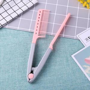Image 4 - Peigne à cheveux Portable Type V lisseur à cheveux pliant, outil de coiffure à faire soi même