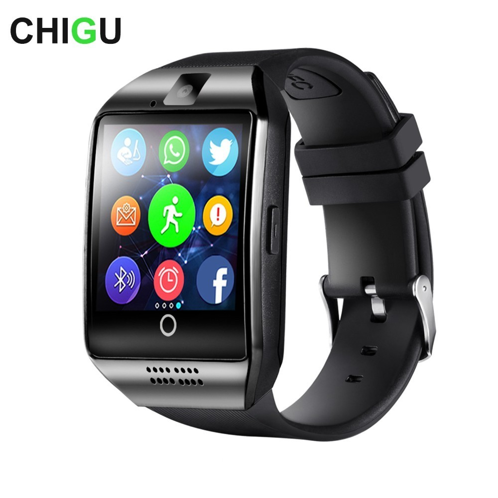 Neue CHIGU Q18 Bluetooth Smart Uhr Mit Touchscreen Kamera Unterstützung TF Sim Karte für Android Telefon Männer Smartwatch