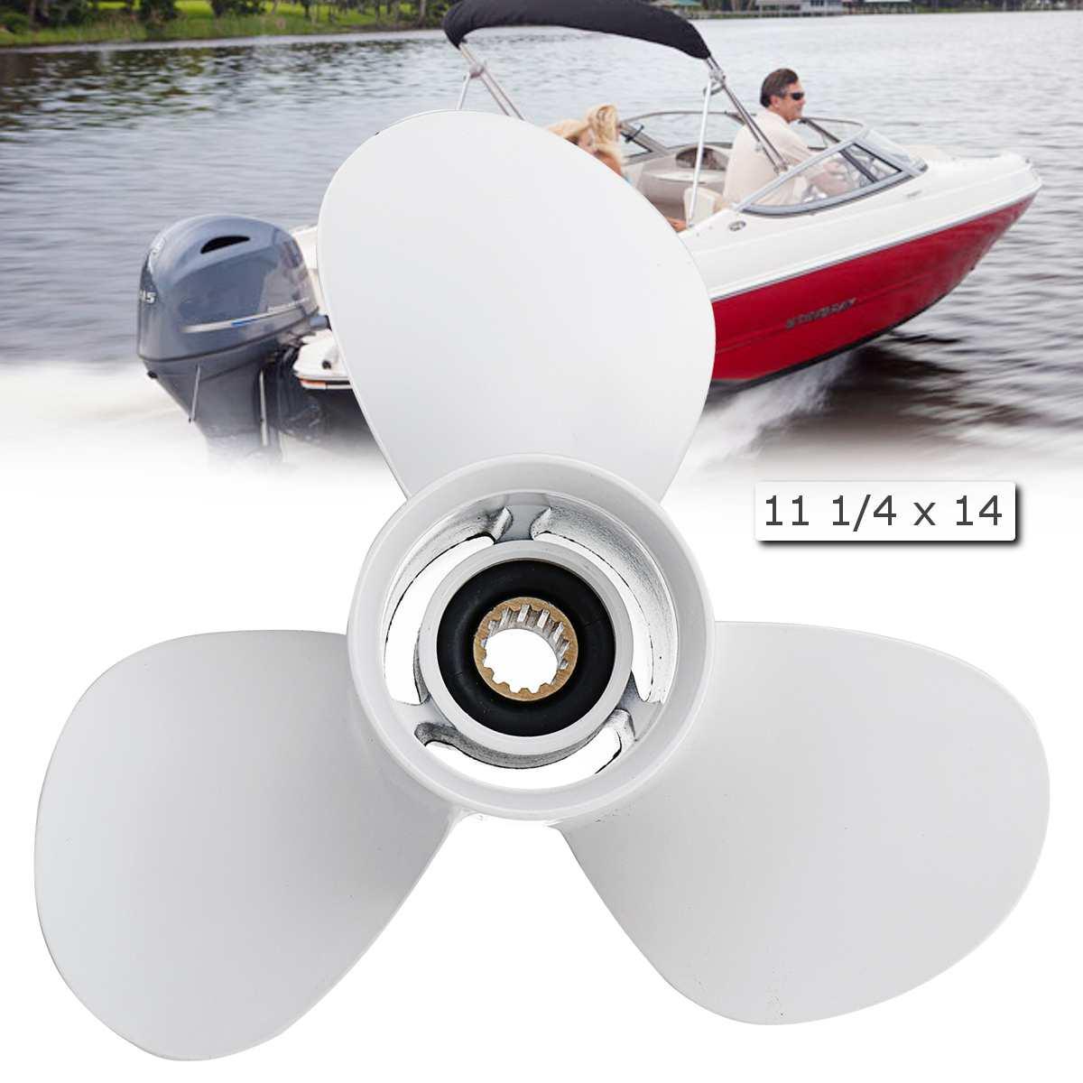 663-45958-01-EL Boat Outboard Propeller For Yamaha 25-60HP 11 1/4 x 14 Aluminum White Diameter 286mm 3 Blades 13 Spline Tooths663-45958-01-EL Boat Outboard Propeller For Yamaha 25-60HP 11 1/4 x 14 Aluminum White Diameter 286mm 3 Blades 13 Spline Tooths