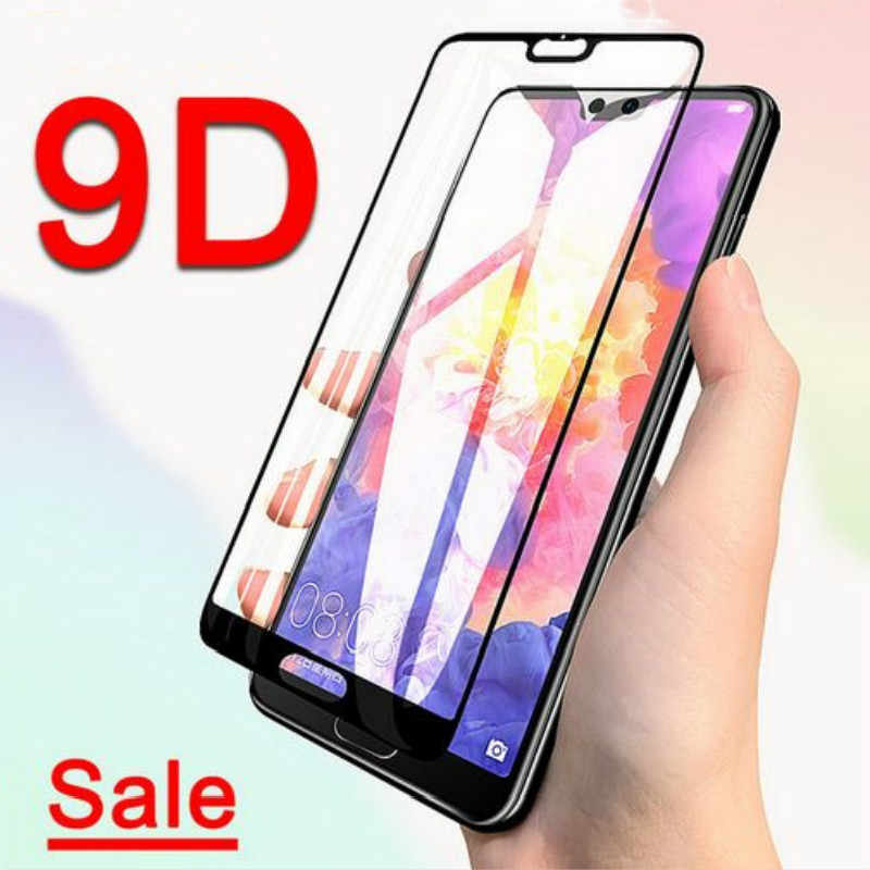 9D Full Cover Tempered Glass for Huawei P20 Pro P30 lite P Smart Plus Y5 Y6 Y9 2019 on Honor 20i 10i 8A 8C 8X 8S Protective Film