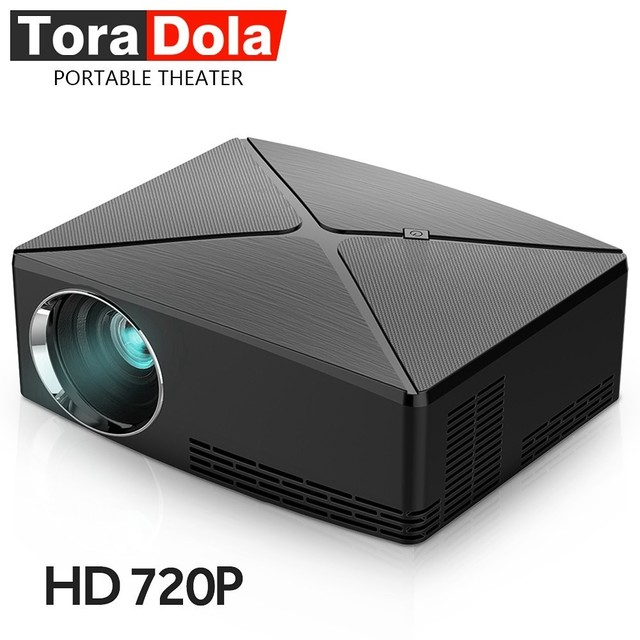 Big Sale TORA DOLA MINI Projector C80, 1280x720 Resolution, LED Projector HD Beamer for Home Theater,1080P, Optional Android WIFI Version