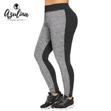 AZULINA más tamaño Color Block Marled alta cintura Leggings mujeres  pantalones flacos ocasionales lápiz pantalones Leggins panta. 9fb78ff4f1b7