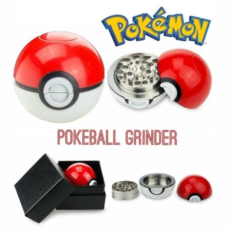 New Cartoon Pokeball Ball Grinder Herb Spice Grinder Pokemon Go Crusher Grinder Zinc Alloy Gift Cosplay