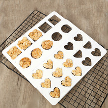 DIY Baking Tile Cookie Square Heart Mould Crisp Round Biscuit Chocolate Tool