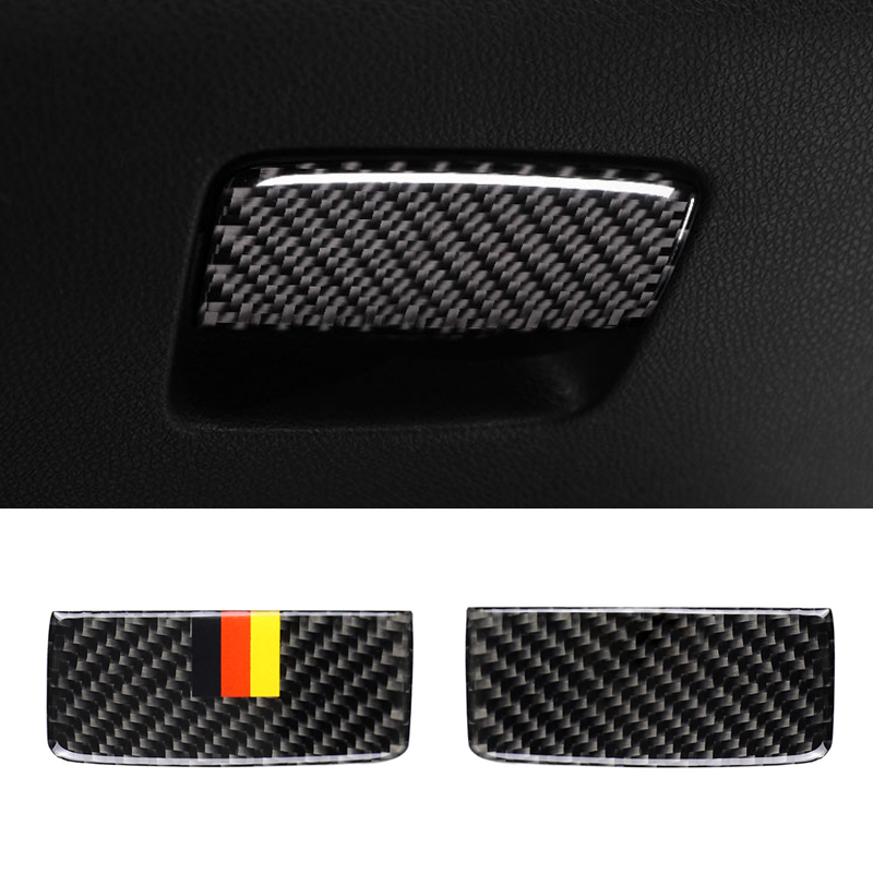 Image 2 - For Mercedes Benz A CLA Class 13 18 / GLA 15 18 Carbon Fiber Car Passenger Side Storage Box Pull Handle Cover-in Interior Mouldings from Automobiles & Motorcycles