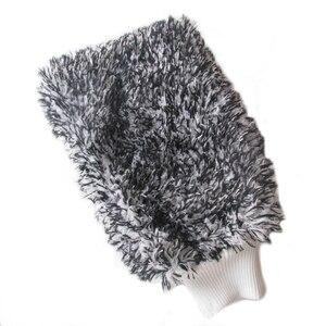 Image 5 - Luva de absorvência macia limpeza de carro de alta densidade ultra macio fácil de secar auto detalhando microfibra loucura lavagem luva pano