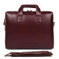 Man Briefcase Genuine Leather Genuine Leather Laptop Bag Handbags Cowhide Men Crossbody Bag Men's Travel Brown Leather Briefcase
