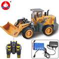 Big RC Alloy Truck Hobby Bulldozer 6CH Wireless Remote Control Metal Engineering Vehicle Construction Boys Toys Drop Shipping