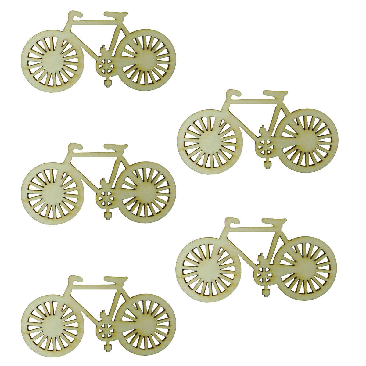 10-Piece Hollow DIY Cutout Creative Wooden Bicycle Ornaments Bike Wood Slices for Handworking Activities Crafting Home Decor