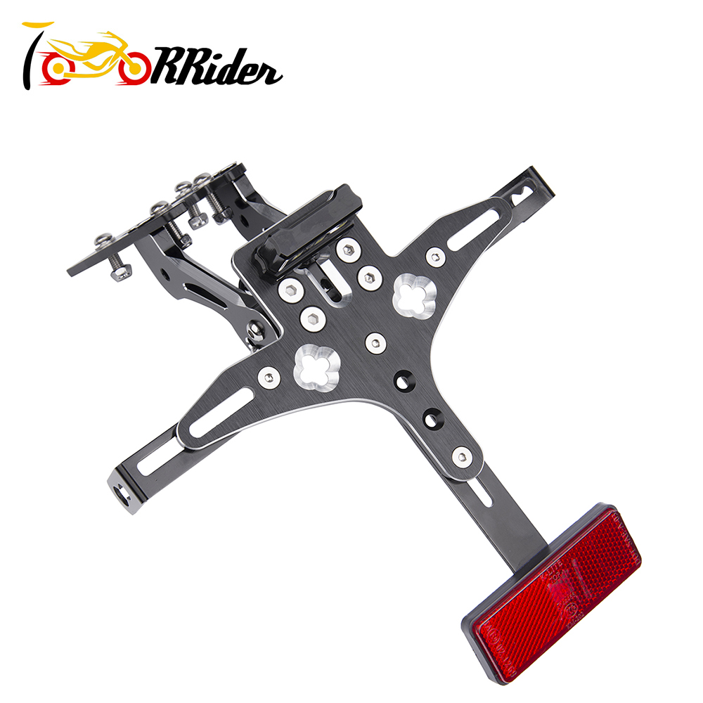 for HONDA CB1000R 2010 2015 CNC Aluminum Motorcycle Rear License Plate Mount Holder Tail Tidy Fender