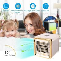 Car Mini Air Cooler Refrigeration Humidification Air Purification USB Fan Air Conditioner with USB cable high/medium/low 3 modes