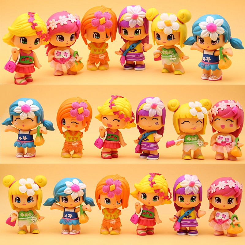 1-30Pcs/Lot Lovely Boneca Pinypon Scented Dolls Toys Detachable Kids Action Toy Figures Fashion Girl Doll Toys Birthday Gifts