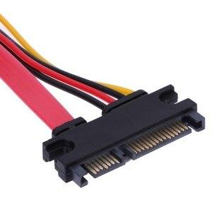 Image 4 - VKWIN SATA 22 Pin męski na żeński Sata przedłużacz kabla SATA 3 III 6 Gb/s 22 Pin męski na żeński 7 + 15 Pin danych SATA zasilania HDD