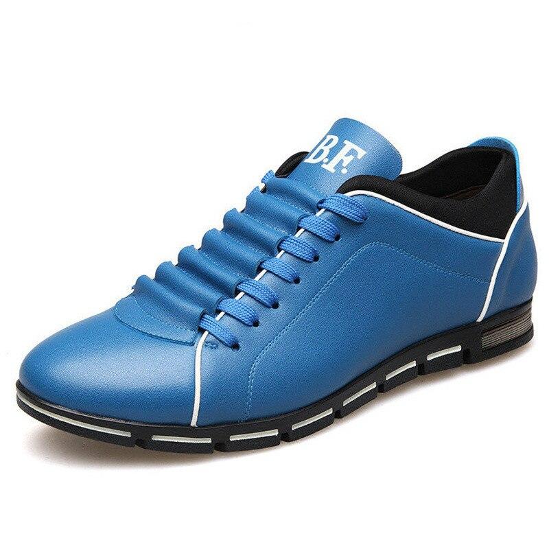 Grande taille 38-48 fait à la main hommes chaussures décontractées en cuir de mode hommes d'été hommes confortable plat Sneaker noir & bleu & vin rouge