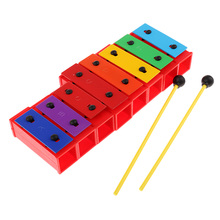 DIY 8 Notes Xylophone Rainbow Piano Toys Hand Percussion for Kids Baby Toddle Birthday Gift