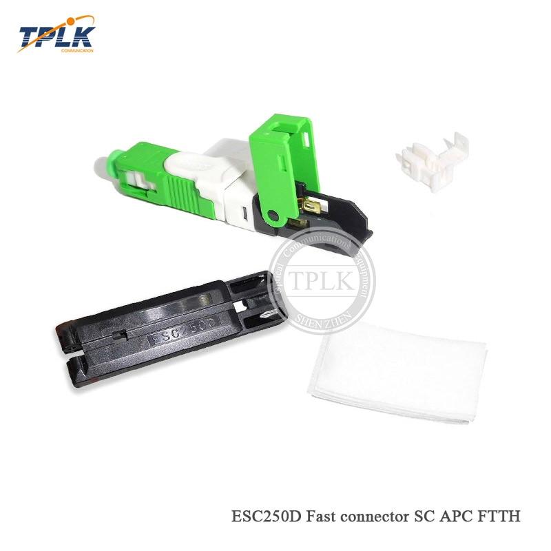 Best price original new 50pcs lot ESC250D SC APC fast connector for FTTH SC APC fast