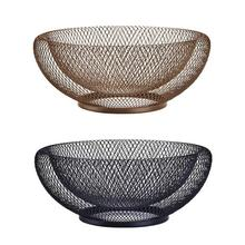 Wrought Iron Storage Basket Nordic Creative Double Fruit Modern Living Room Home Dried Candy Biscuit Box