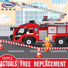 Xingbao 03028 City Series The Airport Firemen Truck Set Building Blocks Bricks Kids Truck Car Model Toys Gifts(China)