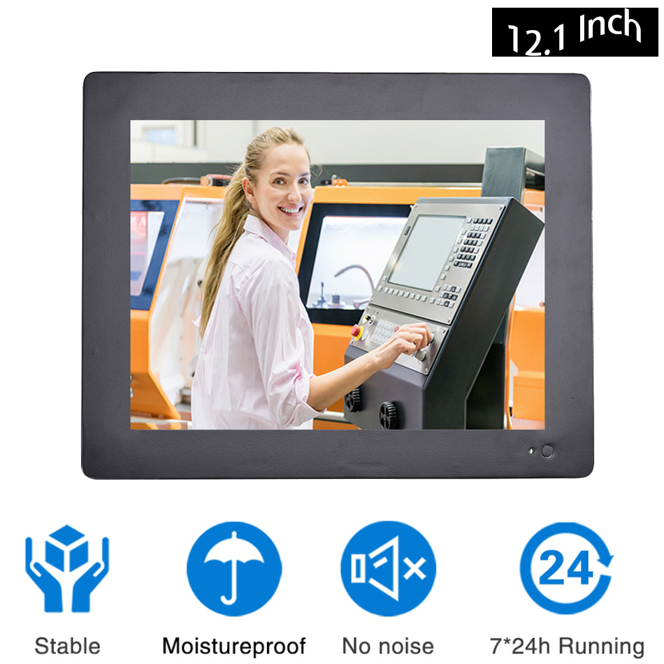 12.1 Inch Industrial Touch Panel PC,Taiwan Temperature 5 Wire Touch Screen,Intel Core I5 3317U,Wins 7/10,Linux,[HUNSN DA12W]