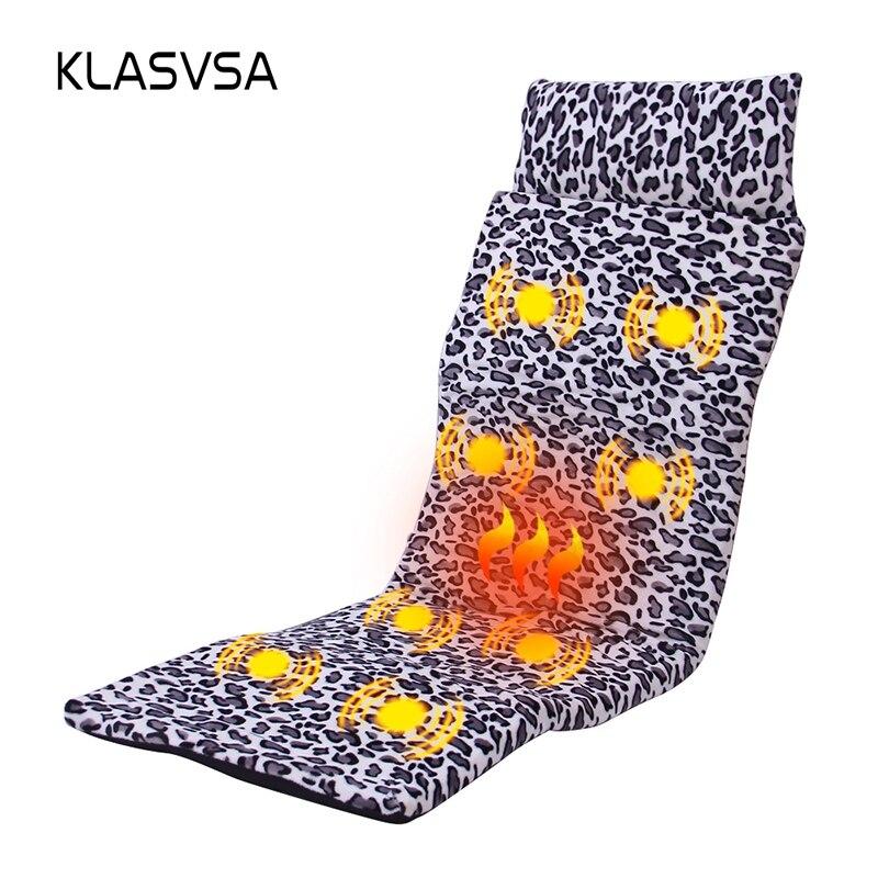 Klasvsa электронный отопление вибратор массажный матрас головы Средства ухода за кожей шеи Массаж спины кровать терапии Подушки релаксации Зд...