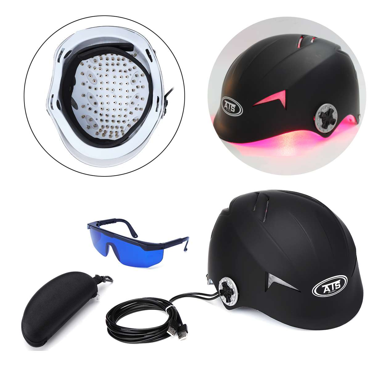 Upgrate Hair Regrowth Laser Helmet Hair Loss Medical Therapy Laser Cap 128 Diodes Hair Fast Regrowth