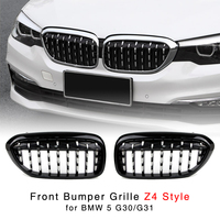 Front Bumper Grille For BMW 5 Series G30 G31 G38 2017 2018 2019 Kidney Diamond Grill With Z4 Style