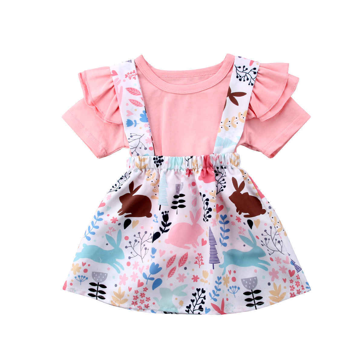 069d0437be874 Detail Feedback Questions about 2019 Summer Easter Newborn Baby Girl Short  Sleeve Tops+ Suspender Tutu Skirt Bunny Rabbit Clothes Cute Set Outfits on  ...
