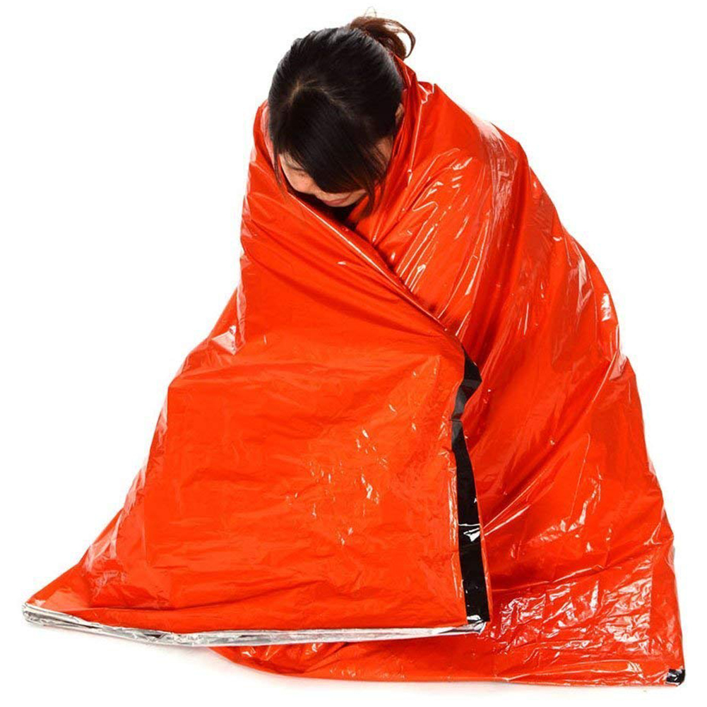 Emergency Survival Sleeping Bag Easy Heat Insulation Compact Outdoor First Aid Gear Waterproof Bivy Sack For Camping Hiking Ba Sleeping Bags Camp Sleeping Gear