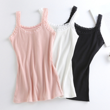 Women Lace Camis Tops Summer New Sleeveless Beach Style Tanks  Ladies Tees Slim Knited Camisole