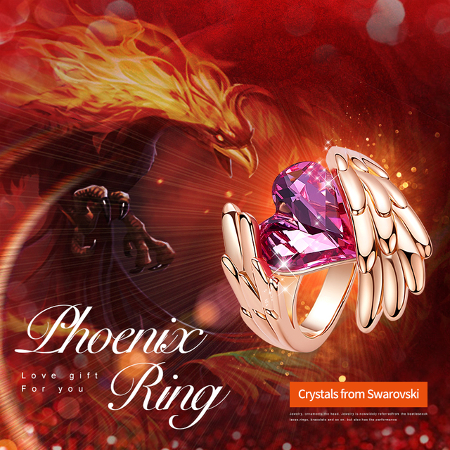 Crystals Ring - 18K Rose Gold Plated 1