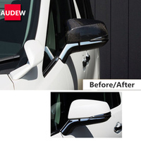 1 Pair Silver Plating Carbon Fiber Rearview Door Mirror Cover Cap ABS For Toyota Alphard Vellfire 2015 2016 2017 2018 2019