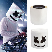 MarshMello Mello DJ Mask Helmet for Halloween Cosplay Party Bar For Music DIY toy