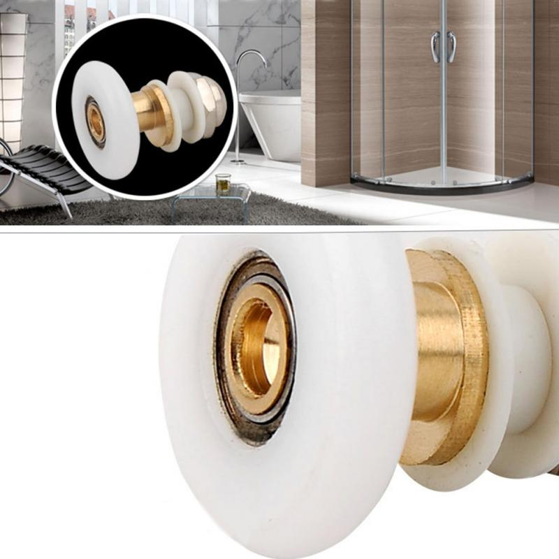 25MM/27MM Adjustable Up Down Easy Glide Bath Shower Door Wheel Roller Alloy Shower Enclosures Steam Cabins Repair Replace Parts
