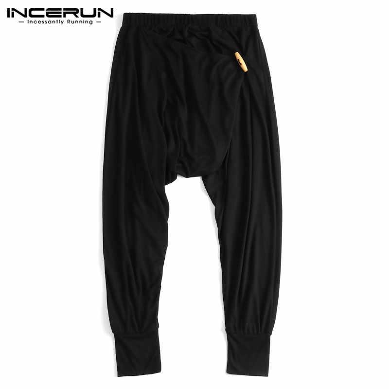 d12e1015d84d Japan Style Mens Ninja Pants Baggy Harem Pants Loose Fitness Low Drop  Crotch Trousers Dance Boho