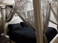 Серебристо серый противомоскитная сетка с двойной дверью, двойной балдахин для кровати, спальный занавес, сетчатый балдахин, полный Король