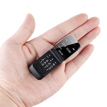 LONG-CZ J9 Smallest Mini Flip Mobile Phone Bluetooth Dialer Magic Voice Handsfree Earphone For Kids Unlock cell phones