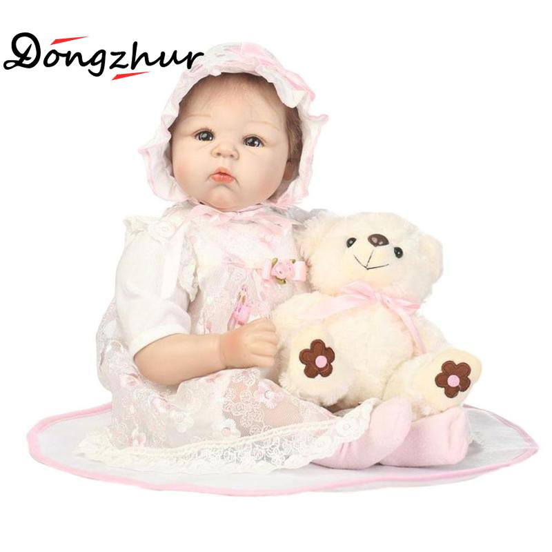 c0bdd22342492b New Silicone Reborn Doll with Soft Real Gentle Touch Newborn Doll Full Body  Baby Dolls Boys Girls Toy Model Child Gift FGH3851