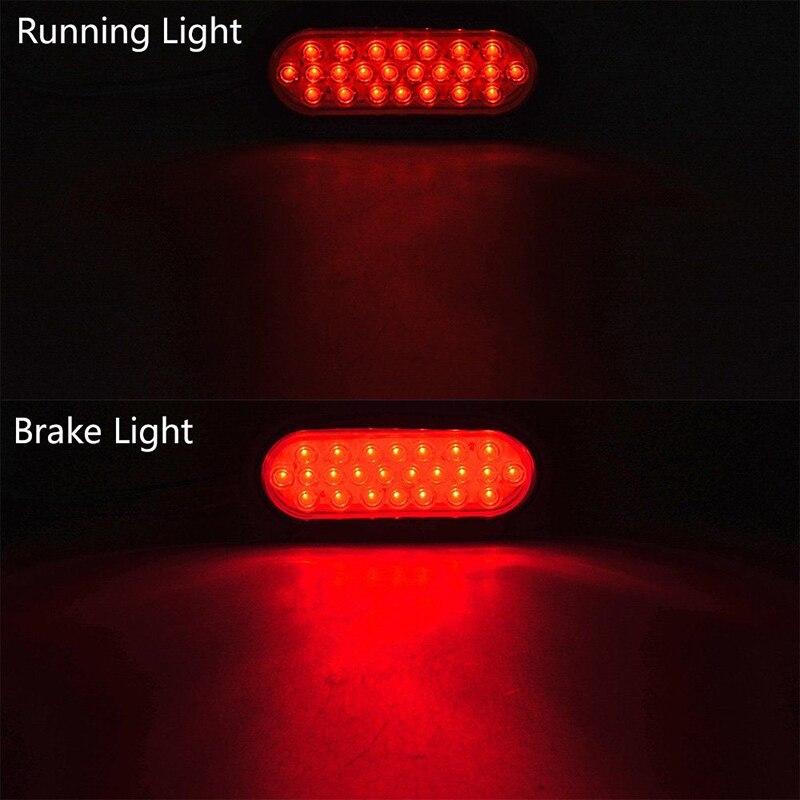Feux arrière ovales blancs rouges 12 V 24 lumière LED de remorque de 6