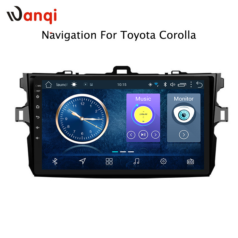 9 Inch Android 8.1 Car Dvd GPS Navigation For Toyota Corolla 2007-2013 With Bluetooth/TV/WIFI/USB/Radio/video/RDS