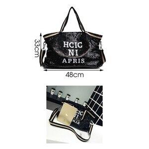 Image 3 - Herald Fashion sac à main Sequin femmes, sac grande capacité, fourre tout à poignée supérieure, sac à bandoulière Shopping, décontracté