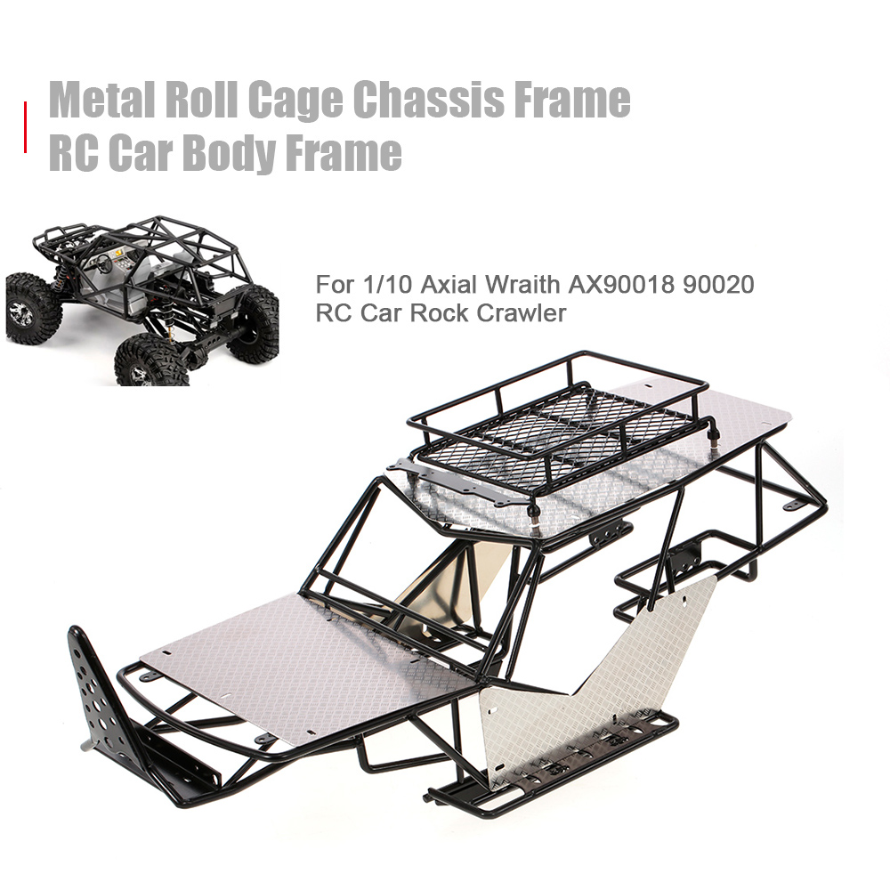 все цены на RC Car Metal Roll Cage Chassis Frame RC Car Body for 1/10 Axial Wraith AX90018 90020 RC Car Rock DIY Crawler Racer Cars онлайн