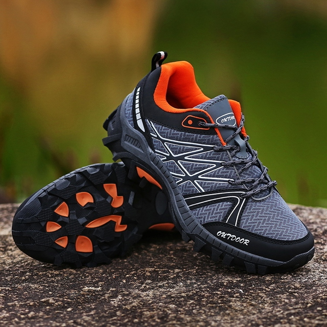New Arrival Big Size Men HIking Shoes Outdoors Antiskid Breathable mesh Trekking Hunting Tourism Mountain jogging Male Sneakers