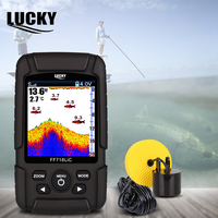 LUCKY Sonar for fishing Echo Sounder 328ft/100m Wireless Depth Finders Portable Echo Wireless Fish Finder FF718LiC T|Fish Finders|   -