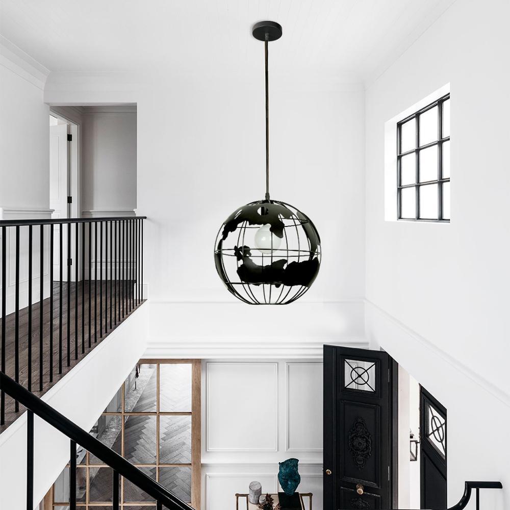 Image 4 - ZHAOKE Modern Global Earth Pendant Lights suspension luminaire for Living Room Restaurant Home Lighting Fixtures pendant lamps-in Pendant Lights from Lights & Lighting