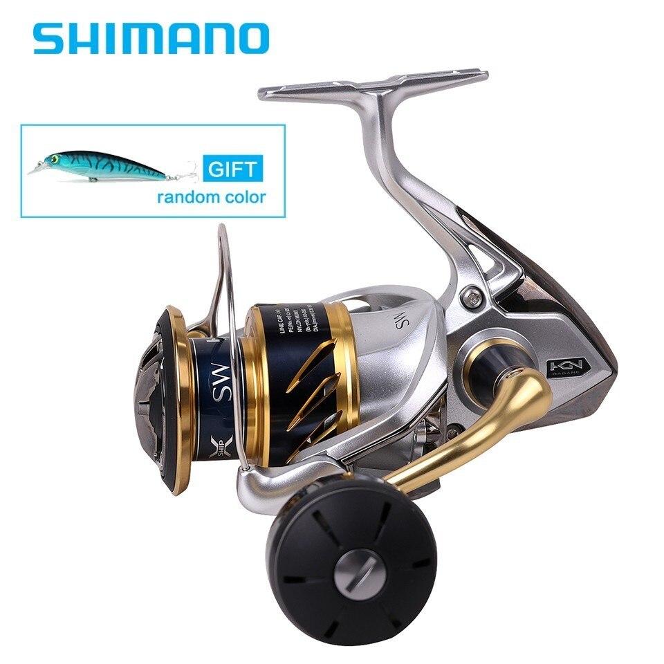 Bobine de filage Shimano plus récente d'origine SW 4000XG 4000HG 5000XG 5000PG 6.2: 1 eau salée 6 + 1BB 11 kg X-SHIP de traînée HAGANE