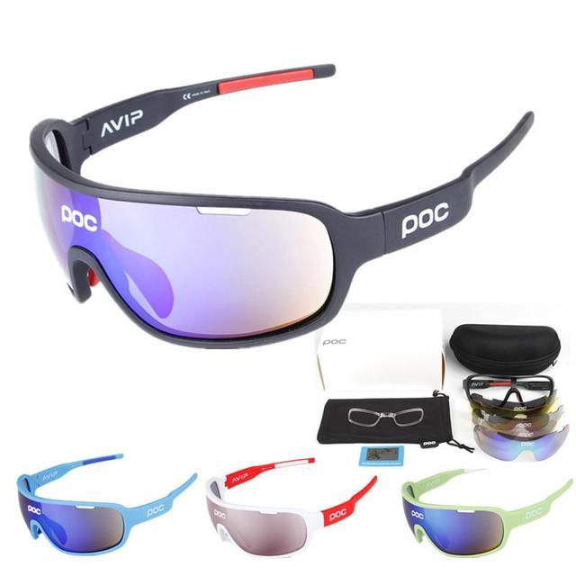 b21d92f24c Cheap Polarized 5 Lens Cycling Glasses MTB Bike Riding UV Protection Goggles  Hiking Fishing Sports Bicycle